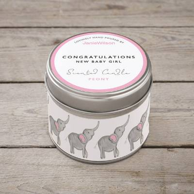 New Baby Girl Scented Candle