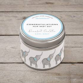 New Baby Boy Scented Candle